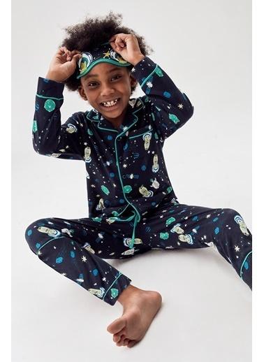 Nebbati Erkek Çocuk Desenli Pijama Takımı Renkli